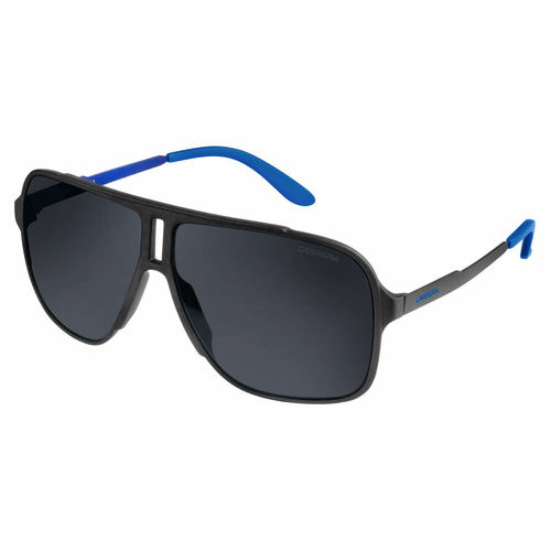 Carrera 122/S Sunglasses - Black Shiny Matte / Gray Blue