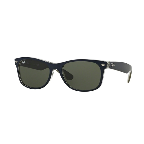 Ray-Ban 2132 New Wayfarer Sunglasses - Matte Blue / Green 67R-G65-RB21326188