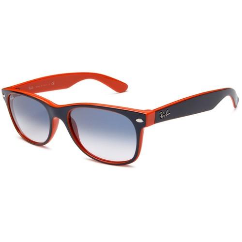Ray-Ban 2132 New Wayfarer Sunglasses - Blue-Orange / Blue 67R-G65-RB2132789/3F
