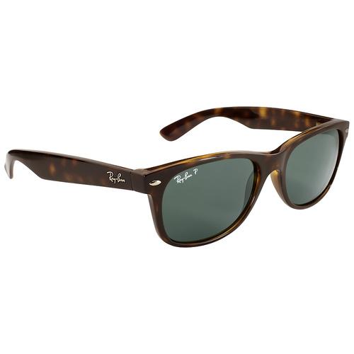 Ray-Ban RB2132 New Wayfarer Sunglasses - Tortoise / Crystal Green
