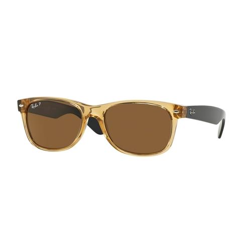 Ray-Ban 2132 New Wayfarer Sunglasses - Honey / Crystal Brown Polarized 67R-G65-RB2132RB2132