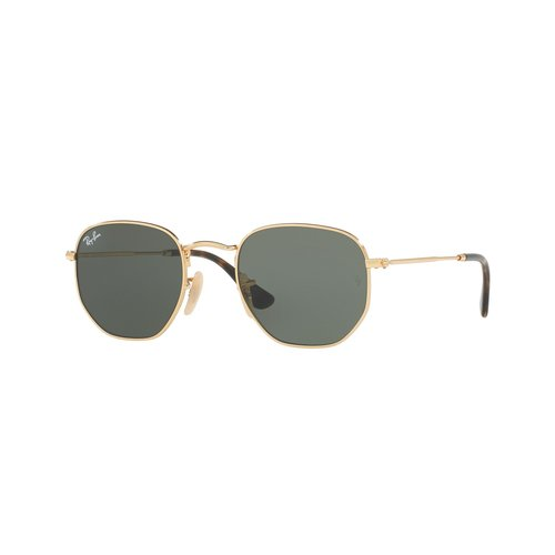 Ray-Ban RB3548 Sunglasses - Gold / Green Crystal