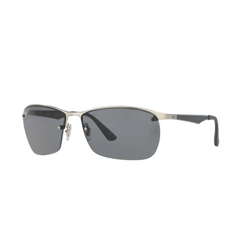Ray-Ban RB3550 Sunglasses - Matte Silver / Grey Polarized
