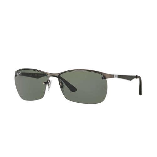 Ray-Ban RB3550 Sunglasses - Matte Gunmetal Grey / Green Polarized