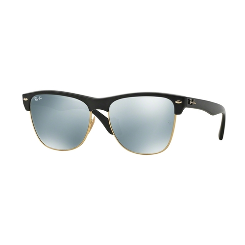 Ray-Ban RB4175 Clubmaster Sunglasses - Demi Shiny Black / Light Green Mirror Silver 67R-G65-RB4175877/30