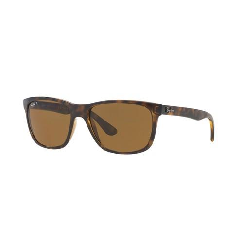 Ray-Ban Men's Polarized Square Sunglasses - Light Havana/Brown Polarized 67R-G65-RB4181710/83