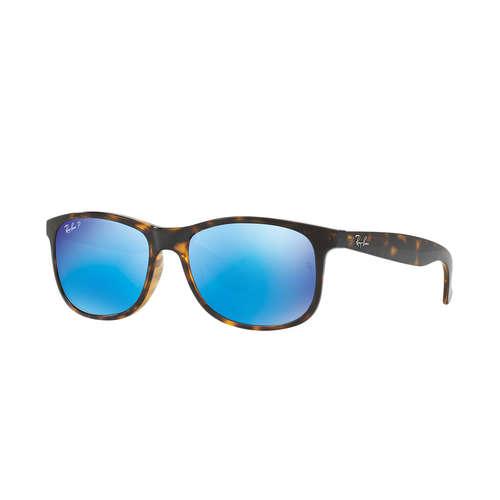 Ray-Ban RB4202 Andy Sunglasses - Shiny Havana / Blue Flash Mirror Polarized