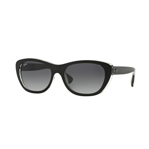Ray-Ban RB4227 Sunglasses - Top Matte Black on Transparent / Top Matte Black on Transparent 67R-G65-RB422760528G