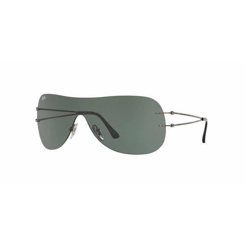 a2c648bc4c Ray-Ban RB8057 Shield Sunglasses - Gunmetal   Green