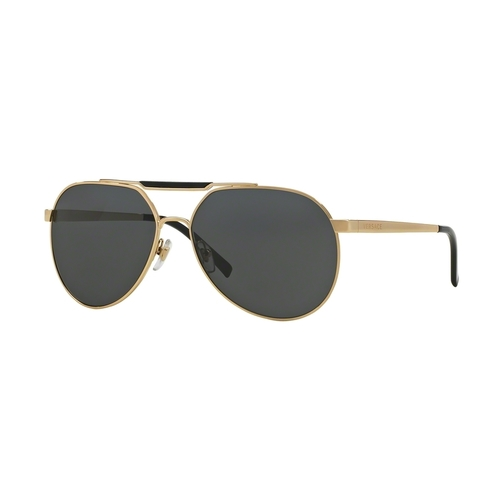 Versace VE2155 Sunglasses - Gold / Gray