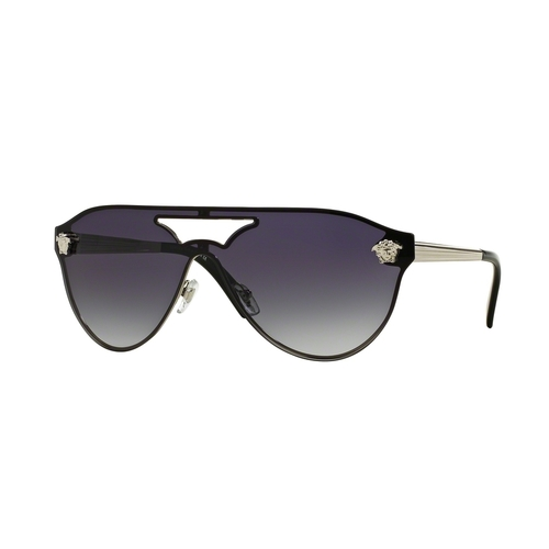 fc04a70239 Versace VE2161 Sunglasses - Silver   Gray Gradient