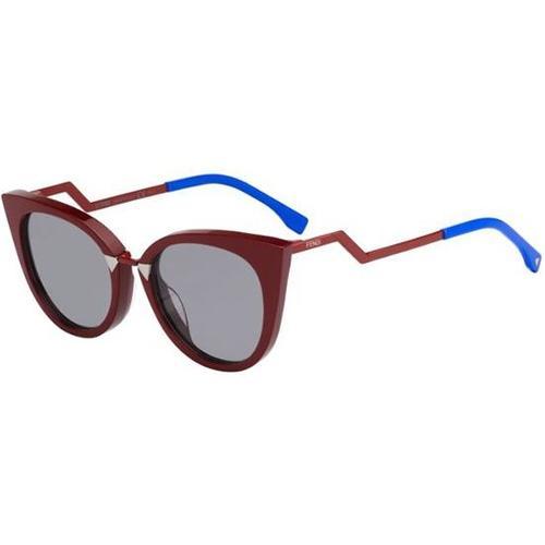 76f46f136a51 Fendi Orchidea FF 0118 S Sunglasses - Burgundy-Electric Blue   Grey Gradient