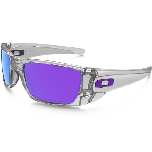 Oakley Fuel Cell Men's Sunglasses - Polished Clear / Violet Iridium