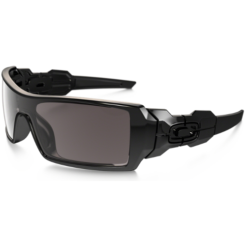 Oakley Oil Rig Men's Sunglasses - Polished Black / Warm Gray