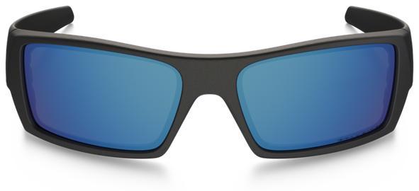 Oakley Gascan Men's Sunglasses - Matte Black / Ice Iridium Polarized