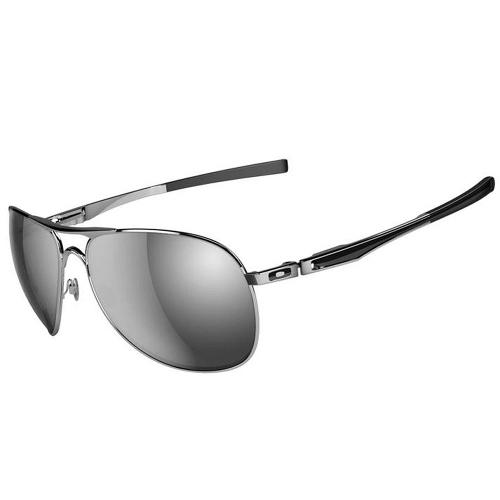 Oakley Plaintiff Men's Sunglasses - Polished Chrome / Chrome Iridium