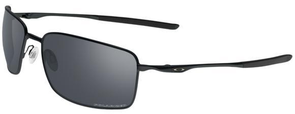 Oakley Square Wire Men's Sunglasses - Matte Black / Black Iridium Polarized
