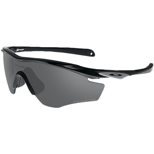 Oakley M2 Men's Sunglasses - Polished Black / Black Iridium Polarized