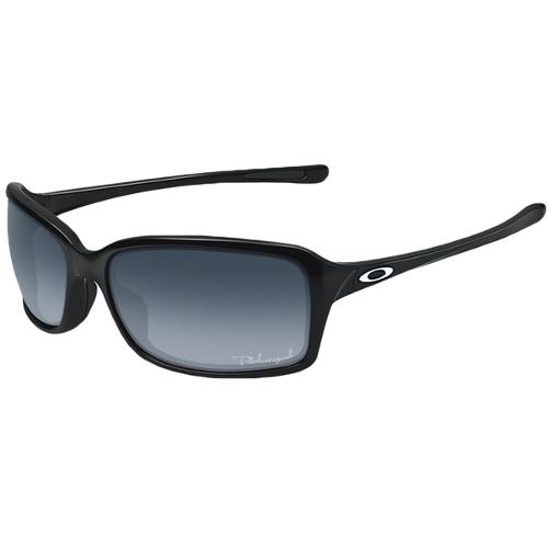 Oakley Dispute Women's Sunglasses - Polished Black / Gray Gradient Polarized