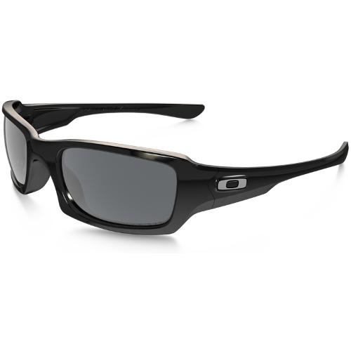 Oakley Five Squared Men's Sunglasses - Polished Black / Black Iridium Polarized