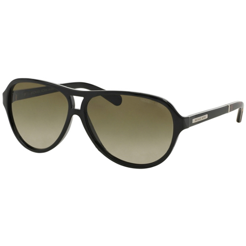 Michael Kors Wainscott Sunglasses Black Dark Tortoise Smoke Green Gradient