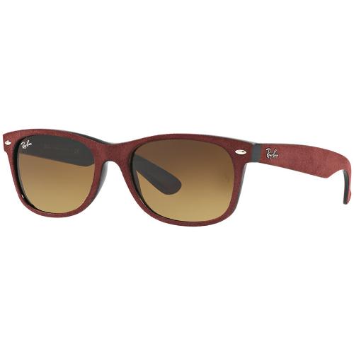 5e784f8b14 Ray-Ban RB2132 New Wayfarer Soft Touch Sunglasses - Black-Top Bordo   Alcantara