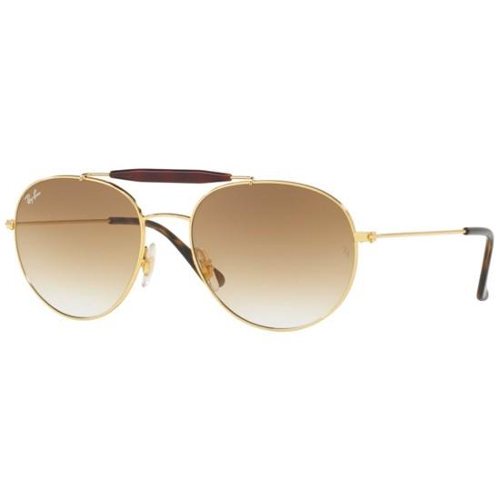 Ray-Ban RB3540 Sunglasses - Gold / Brown Gradient