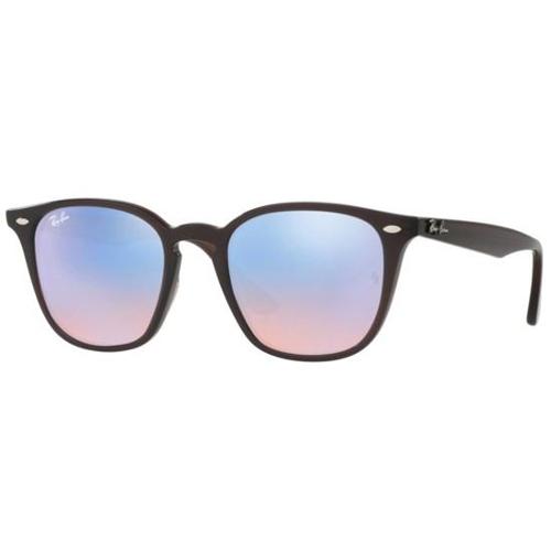 Ray-Ban RB4258 Wayfarer Sunglasses - Shiny Opal Brown / Blue Flash Mirror