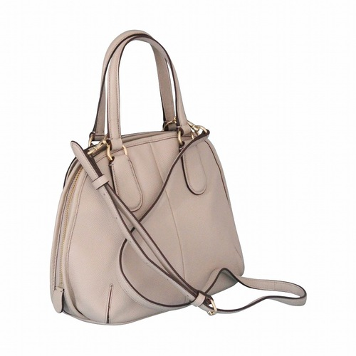 Coach Crossgrain Leather Prince Street Mini Satchel Handag - Gray Birch