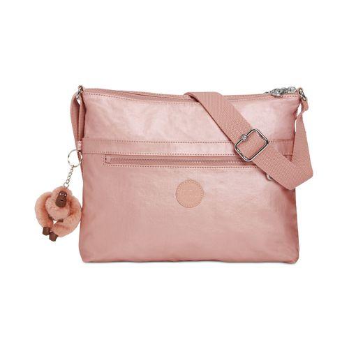 Kipling Wren Metallic Crossbody Bag - Rose