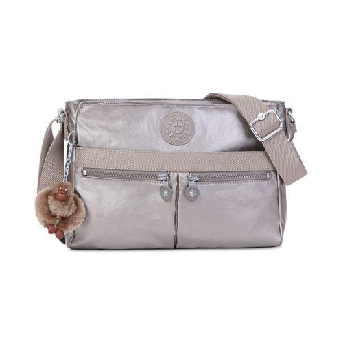 Kipling Angie Crossbody Bag - Metallic Pewter