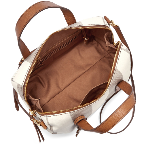 Fossil Sydney Satchel - Neutral Stripe