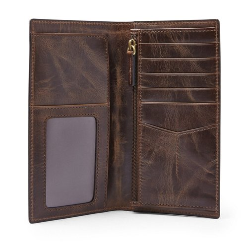 Fossil Derrick Executive Wallet - Brown