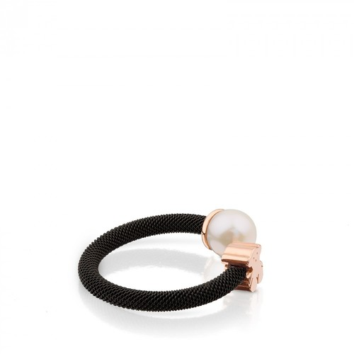 Tous 8.5 mm Steel and Pink Vermeil