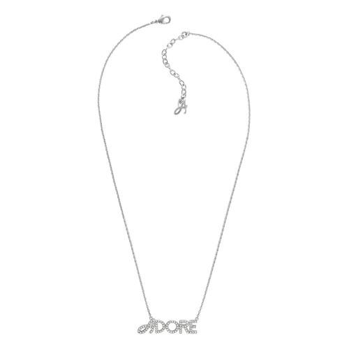 Adore Women's Signature Logo Necklace Pendant - Silver