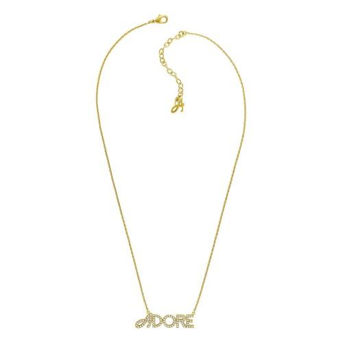 Adore Women's Signature Logo Necklace Pendant - Gold