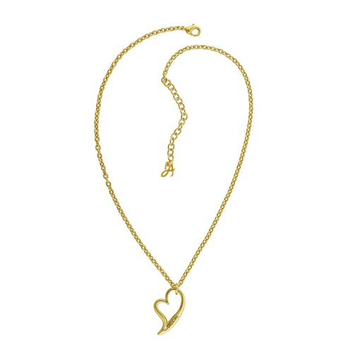 Adore Signature Open Heart Necklace - Gold