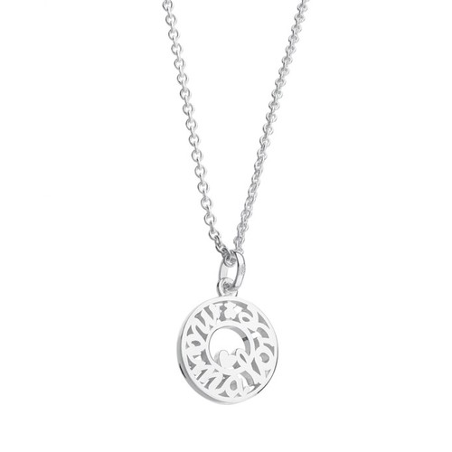 "TOUS Sterling Silver 16"" Mama Pendant Necklace"
