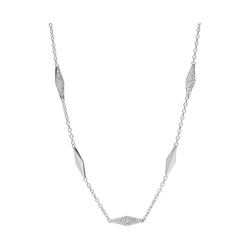 Fossil Glitz Link Silver Pendant Necklace 69A-O48-JF02017040