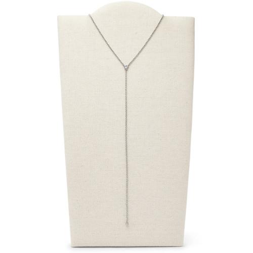 Fossil Vintage Glitz Dot Silver-Tone Y-Necklace