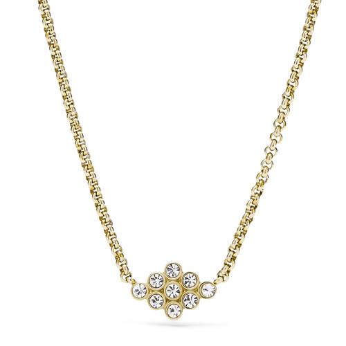 Fossil Vintage Glitz Diamond-Shaped Pendant Necklace - Gold