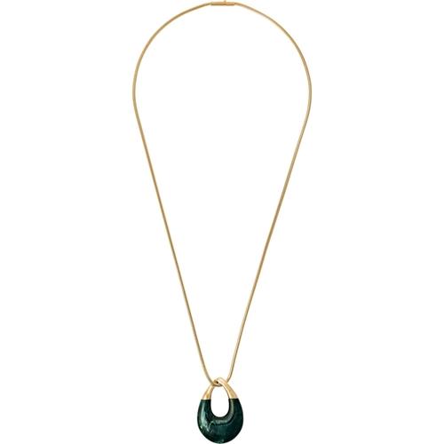 Michael Kors Autumn Luxe Green Jade Acetate and Goldtone Pendant