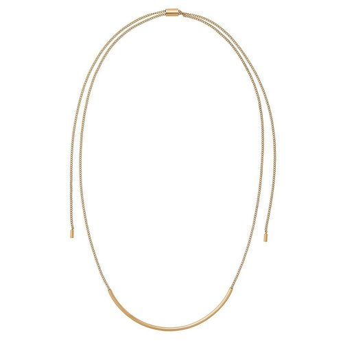 Michael Kors Double-Wrapped Lariat Chain Necklace - Gold