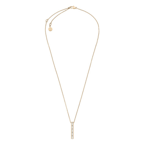 Michael Kors Baguette Linear Pendant Necklace - Gold