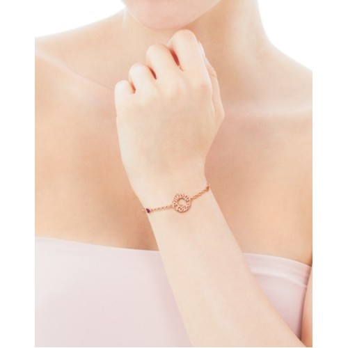 TOUS 18k Gold Mama Ruby Bracelet