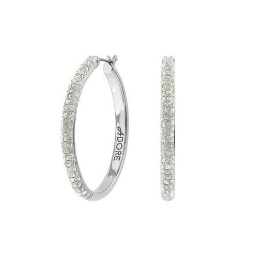 Adore Shimmer Ceralun Pave Hoop Earring -
