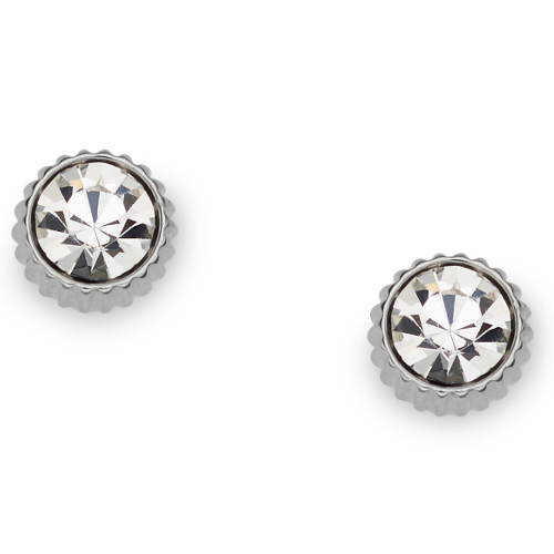 Fossil Glitz Coin Edge Stud Earrings -
