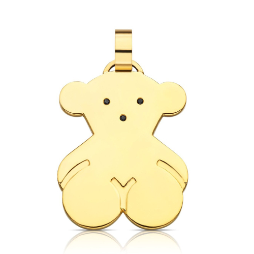TOUS 18k Yellow Gold Vermeil Silver Sweet Dolls Pendant