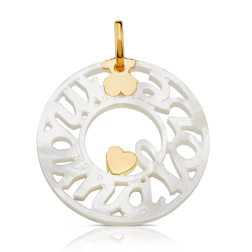 TOUS Gold TOUS Mother of Pearl Mama Pendant
