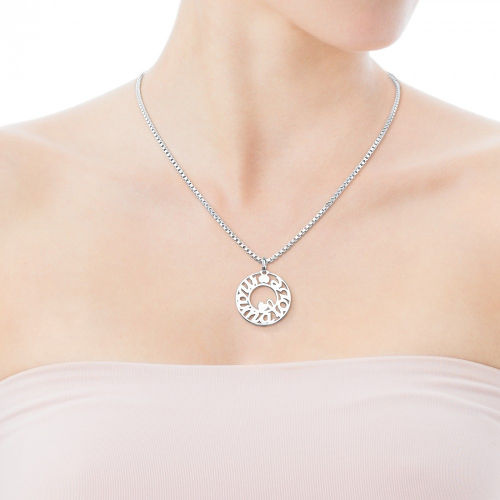 TOUS Sterling Silver Mama Pendant
